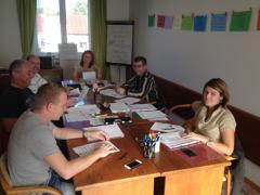 Foto z konverzačního kurzu.